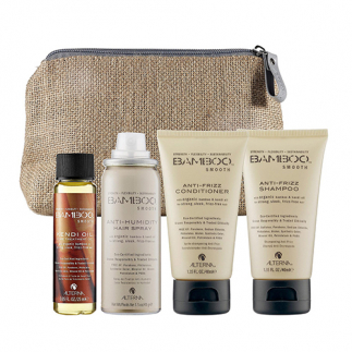 Set pentru par neted si matasos Alterna Bamboo Smooth Travel Set