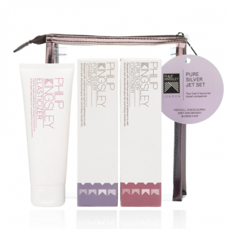 Set nuantator pentru par blond Philip Kingsley Pure Silver Jet Set