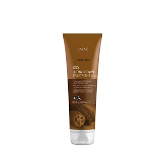 Masca de par nuantatoare - par saten Lakme Ultra Brown 250ml